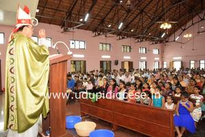 Bishop celebrates Mass and meets the Members of 18 Commissions at Ajekar