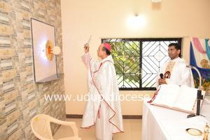Bishop blesses the Tabernacle at Axulium Nivas Convent, Shirva