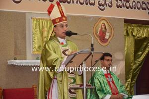 Bishop celebrates Mass and meets the Members of 18 Commissions at Karkal