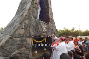 The Bishop Blesses New Grotto at Pilar