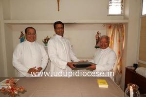 New Secretary of Catholic Education Society of Udupi (CESU) takes charge at Bishop's House, Udupi