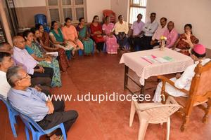 Bishop celebrates Mass and meets the Members of 18 Commissions at Kanajar