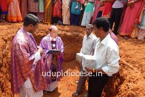 Foundation Stone of Church Building Laid at Immaculate Heart of Mary Church, Nakre