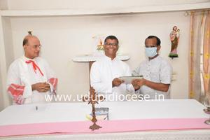 V. Rev. Fr Charles Menezes takes charge as the Secretary of Diocesan Youth Commission and Director of ICYM- Udupi Diocese