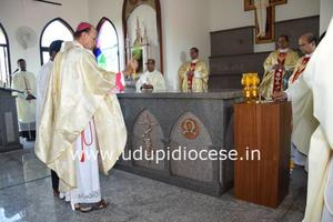 St Padre Pio New Chapel Blessed at Moodubelle