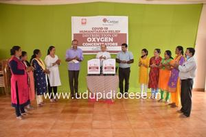 Udupi diocese receives Oxygen Concentrators from Caritas