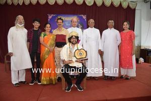Indian Idol Season-12 Finalist Nihal Tauro Felicitated by Udupi Diocese