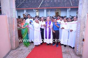 Renovated Cemetery Blessing at Milagres Cathedral, Kallianpur